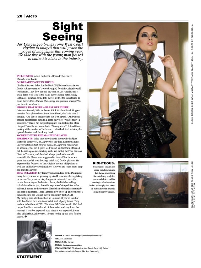 statment magazine feature jar concengco