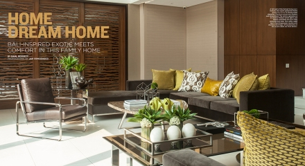 The Sinoro family's Bali-inspired home designed by the Almario sisters: Gen  Sinoro and her daughter: I found their powder room sink to ...
